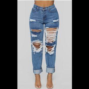 Size 9 Boyfriend Ripped Jeans Fashionnova